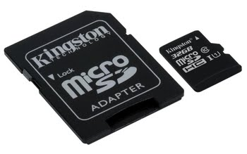 Kingston Technology microSDHC Class 10 UHS-I Card 32GB 32GB MicroSDHC UHS-I Class 10 flashgeheugen