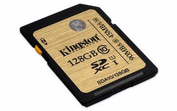Kingston Technology SDHC/SDXC Class 10 UHS-I 128GB 128GB SDXC UHS Class 10 flashgeheugen