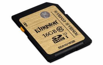 Kingston Technology SDHC/SDXC Class 10 UHS-I 16GB 16GB SDHC UHS Klasse 10 flashgeheugen
