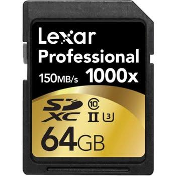 Lexar SDXC Pro 64GB 1000X UHS2