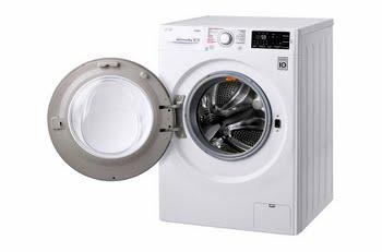 LG F4J6VY0W Vrijstaand Voorbelading 9kg 1400RPM A+++-20% Wit wasmachine