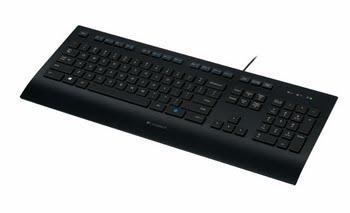 Logitech K280e USB QWERTY US International Zwart toetsenbord