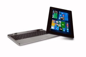 "MEDION AKOYA E1239T 1.44GHz x5-Z8350 10.1"" 1920 x 1200Pixels Touchscreen Zwart, Zilver Hybride (2-in-1)"