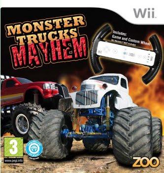 Monster Trucks Mayhem + Racestuur (Bundel) (Nintendo Wii)