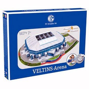Nanostad 3D puzzel Schalke 04 Veltins Arena - 147 stukjes