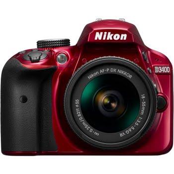Nikon D3400 Rood AF-P + 18-55mm VR