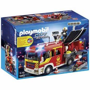 PLAYMOBIL City Action brandweer pompwagen met licht en sirene 5363