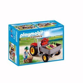 PLAYMOBIL Tractor met laadbak 6131