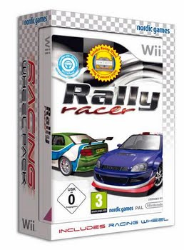 Rally Racer + Steering Wheel (Nintendo Wii)
