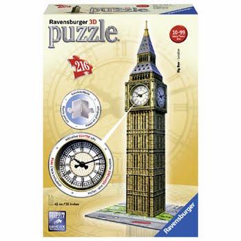 Ravensburger 3D puzzel Big Ben - 216 stukjes
