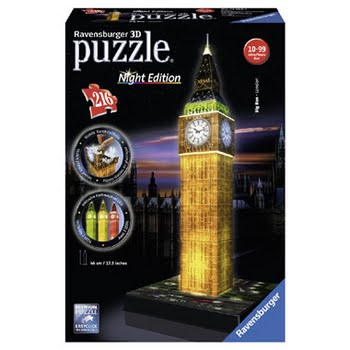 Ravensburger 3D puzzel Big Ben-Night Edition - 216 stukjes