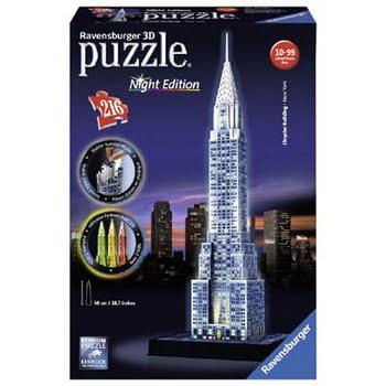 Ravensburger 3D puzzel Chrysler Building bij nacht - 216 stukjes
