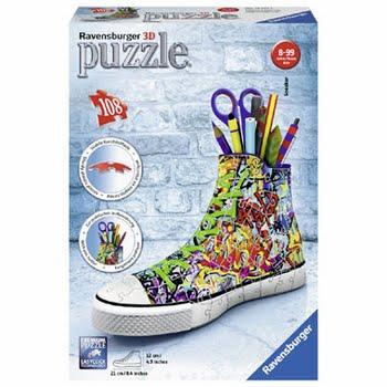 Ravensburger 3D-puzzel Sneaker Grafitti Print - 108 stukjes