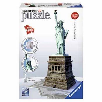 Ravensburger 3D puzzel Vrijheidsbeeld - 37 stukjes