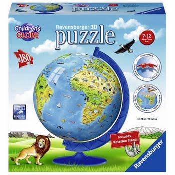 Ravensburger 3D-puzzel XXL kinderglobe - 180 stukjes