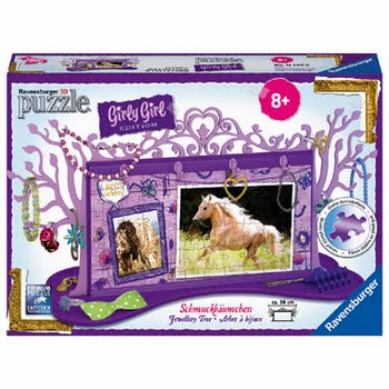 Ravensburger Girly Girl 3D puzzel juwelenboom paarden - 108 stukjes