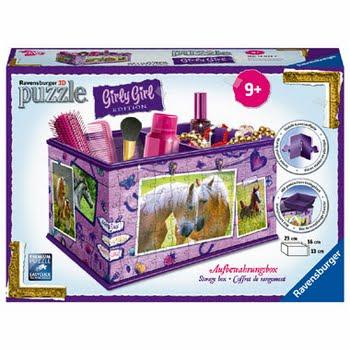 Ravensburger Girly Girl 3D puzzel opbergdoos paarden - 216 stukjes