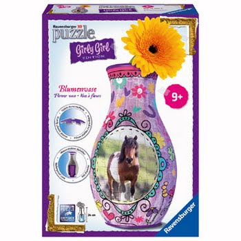 Ravensburger Girly Girl 3D puzzle: Bloemenvaas paarden