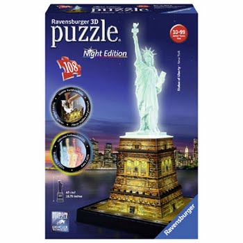 Ravensburger Statue of Liberty 3D puzzel night edition - 108 stukjes