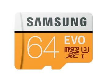 Samsung 64GB, MicroSDXC EVO 64GB MicroSDXC UHS-I Klasse 10 flashgeheugen