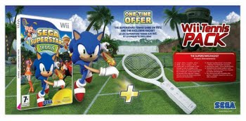 Sega Superstars Tennis + Tennisracket (Nintendo Wii)