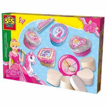 SES Creative Glitter Dreams: sieradendoosjes maken - roze