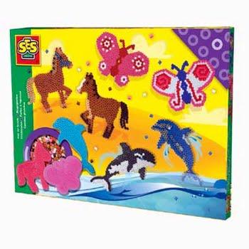 SES Creative strijkkralenset paard vlinder dolfijn