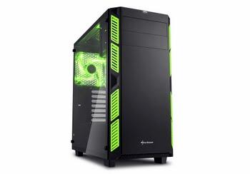 Sharkoon AI7000 Glass Toren Zwart, Groen computerbehuizing