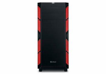 Sharkoon AI7000 Silent Midi-Toren Zwart, Rood computerbehuizing