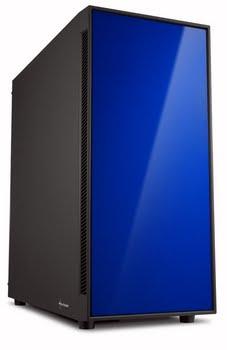 Sharkoon AM5 Silent Micro-Tower Zwart, Blauw computerbehuizing