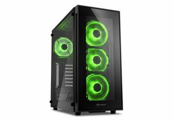 Sharkoon TG5 Midi-Toren Zwart computerbehuizing