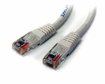 StarTech.com 15 m Cat5e Gegoten RJ45 UTP Netwerkkabel Wit