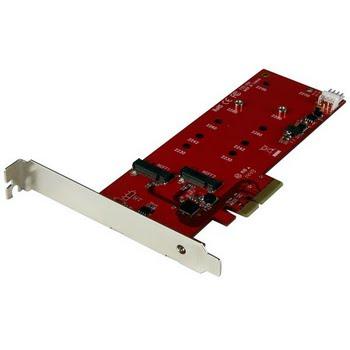 StarTech.com 2x M.2 SSD controller kaart PCI Express kaart