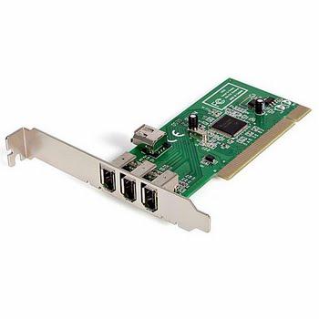 StarTech.com 4-poort PCI 1394a FireWire Adapter Kaart 3 Extern 1 Intern