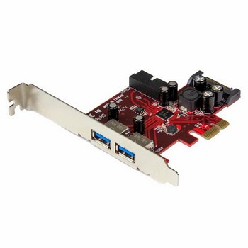 StarTech.com 4-poorts PCI Express USB 3.0 kaart 2 extern, 2 intern SATA-voeding