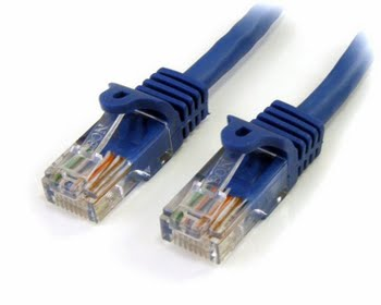 StarTech.com 45PAT5MBL 5m Cat5e U/UTP (UTP) Blauw netwerkkabel