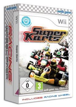 Super Karts + Steering Wheel (Nintendo Wii)