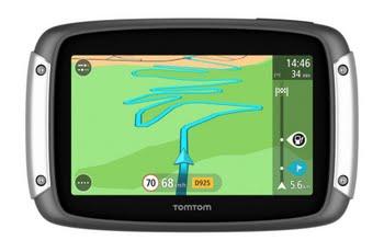 """TomTom Rider 400 Premium Pack Vast 4.3"""" Touchscreen 280g Zwart, Zilver"""