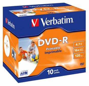 Verbatim DVD-R 4.7GB 16x 4.7GB DVD-R 10stuk(s)