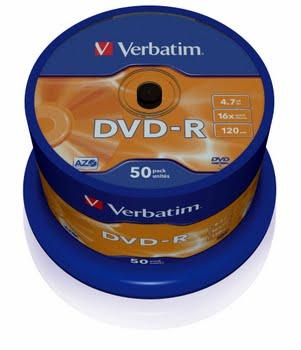 Verbatim DVD-R Matt Silver 4.7GB DVD-R 50stuk(s)