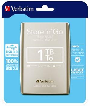 Verbatim Store 'n' Go 1000GB Zilver externeharde schijf