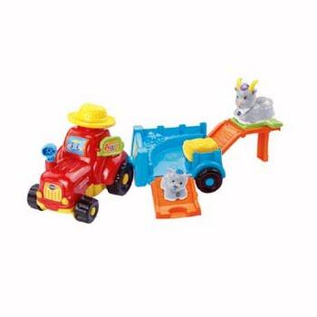 VTech Zoef Zoef tractor met dierenkar
