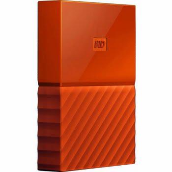 WD My Passport 4 TB Oranje