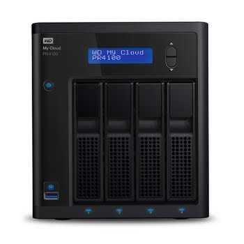 Western Digital My Cloud PR4100 3.5 Inch 4 bay My Cloud Pro series NAS, 0TB, Zwart