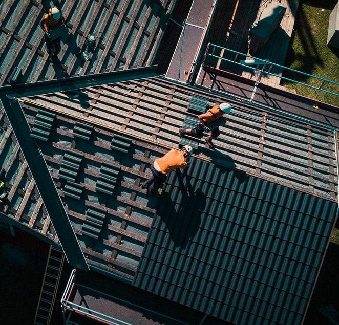 Byte av tak - Arbete