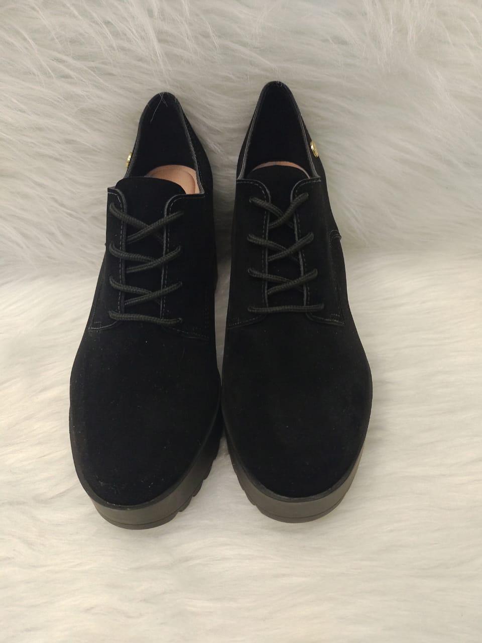 Sapato Feminino Moleca Nobuck Ref:5647.211