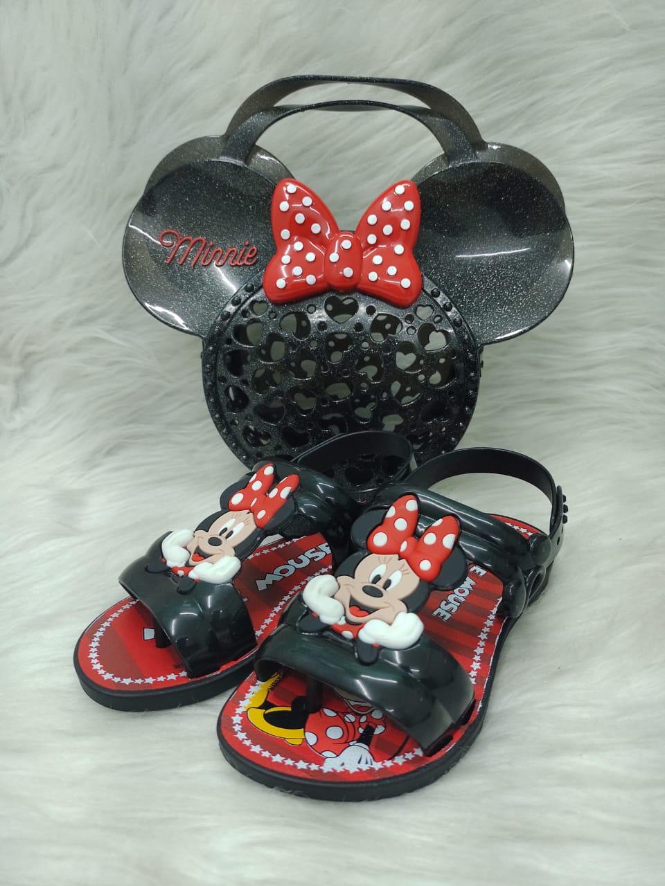Sandalia Infantil Menina Grendene Kids Minnie Show Ref:22167