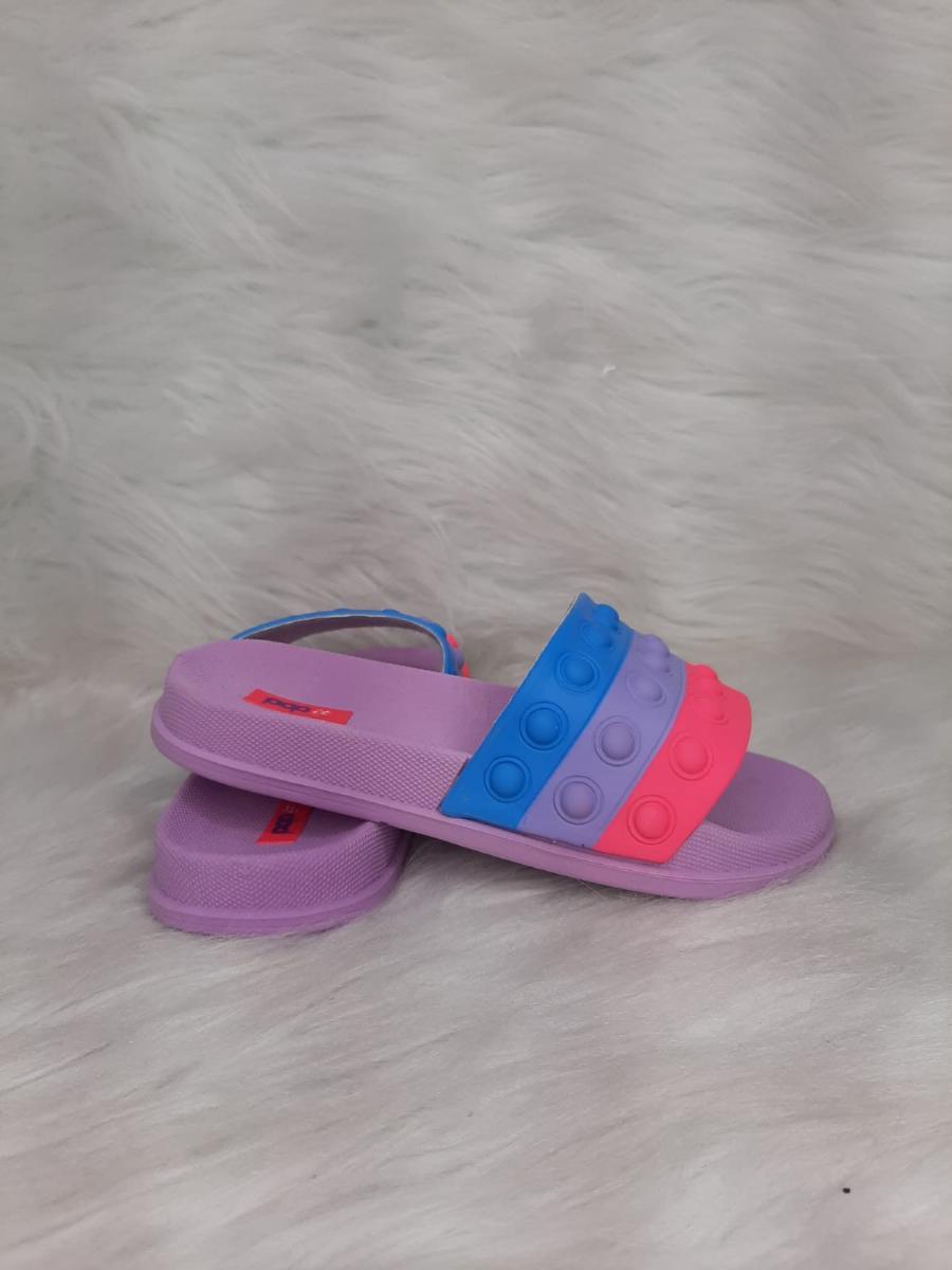 Chinelo Infantil Menina Ellen Calcados Slide Pop It Ref:240