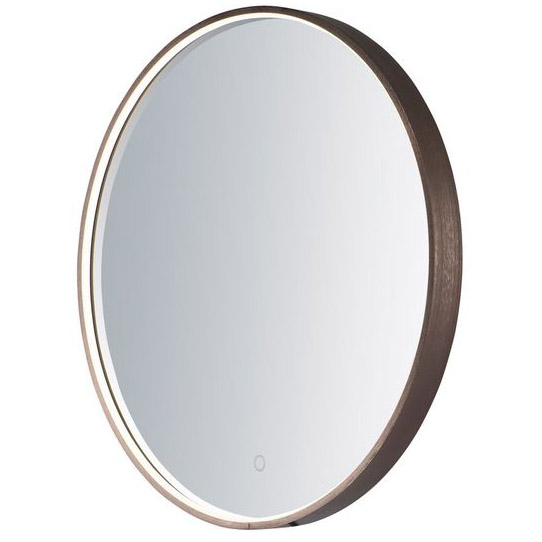 High 1 Light LED Mirror in Anodized Bronze