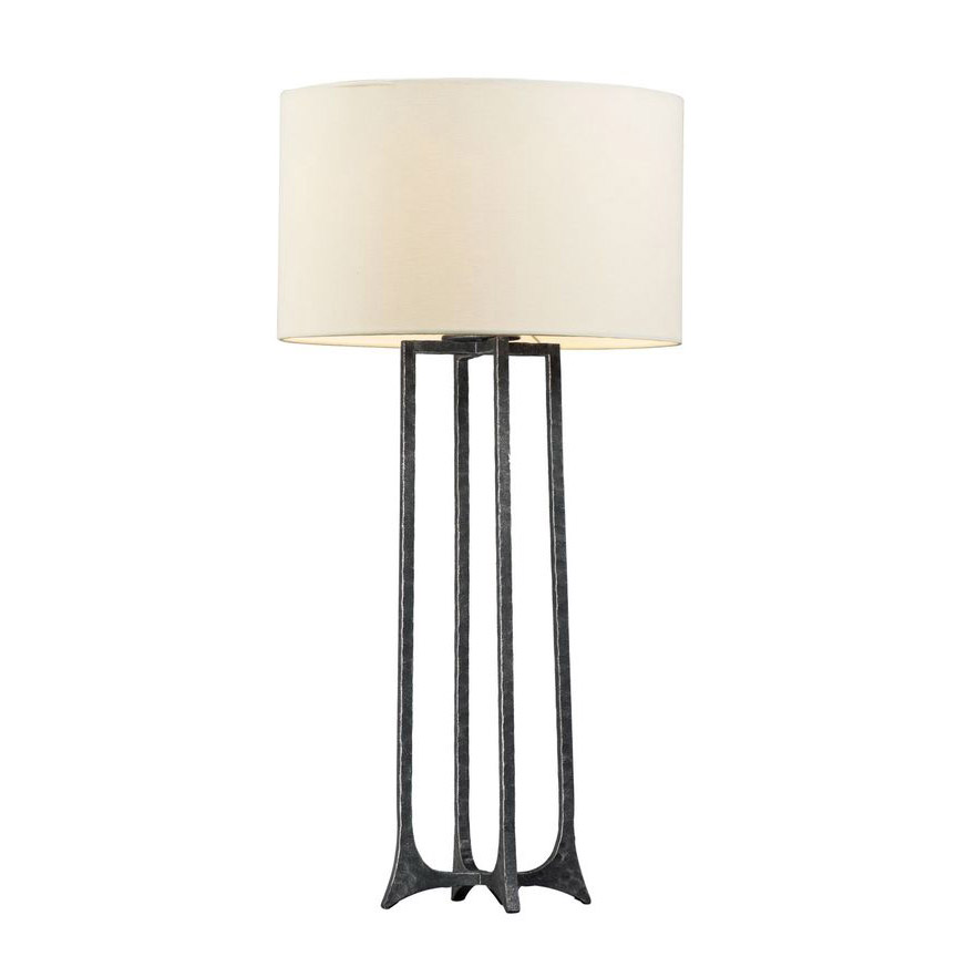 """31"""" Tall Anvil Table Lamp in Natural Iron"""